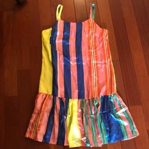 Multi-colored striped dress
